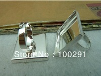 free shipping wholesale    Adjustable Ring Bases Blanks 25MM,Square, /Sterling Silver Plated