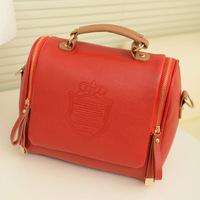 Fashion Women Shoulder Bag Embossed Handbag Tote vintage pu leather bags,Candy color handbags