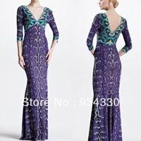 Free Shipping Italy Designer Dress Women's V-neck Charming Purple Printed Stretch Jersey Silk Long Maxi Dress,S-XXL