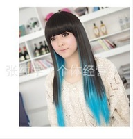 Dimensional fashion highlights color gradient color dyeing wig sprouting in the classic European and American 811