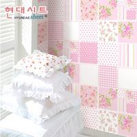 10m*45cm kids Scrub pink pvc wallpaper eco-friendly home decoration girl child room wallpaper  home decor