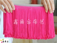 Diy material stage clothes accessories Latin dance laciness rayon tassel trimming 15cm long 1 meters