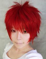 Akashi Seijuro Red Short Anime Cosplay Costume Wig,Free shipping