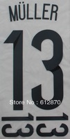 #13 MULLER  Germany Home 2014 Print  Name , World Cup 2014.Star Name sets ,Print by yourself.accept custom name
