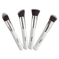 Wholesale 4 pieces/lot nylon hair with wooden handle 4 pcs makeup brushes set sixplus high quality new 2014
