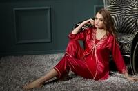 new 2013 sleepwear women sexy silk pajamas silk Spring Temptation silk robes women suspender pants two-piece fitted tracksuit