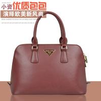 2014 Seconds Kill New Pocket Medium(30-50cm) Zipper Shoulder Bags Fashion Genuine Leather Bag Cross Shell Brand Women's Handbag