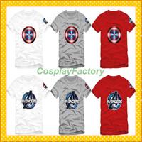 Free Shipping O-Neck The Avengers Captain American Fashion Cotton Tshirt,0.6kg/pc