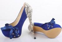 spring autumn fashion snake plus size eur 35-43 party ladies shoes woman platform pumps sexy high heels women shoes GD140379