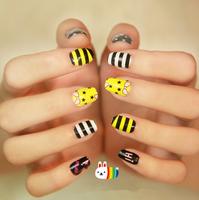 $1 new 5 designs nails art stickers nail tools decorations cute styles DIY fashion nail 2014