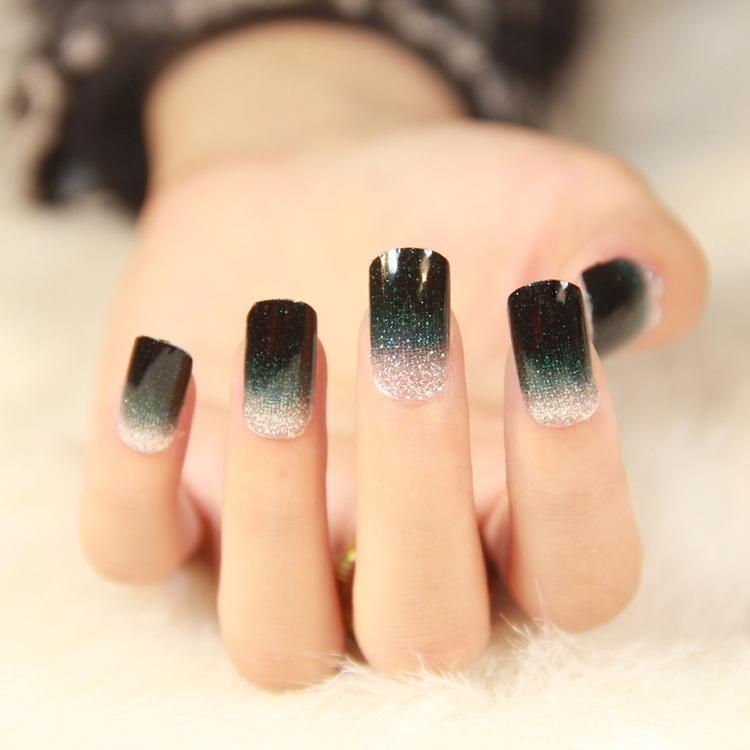 Nouvelles conceptions $2 23 pouvez choisir 2014 haute qualité dégradé de couleur série ongles autocollants d'art ongles outils de gros