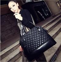 2013 women's winter fashion handbag normic fashion vintage bag portable large bags female big plaid bags