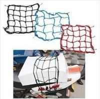 Motorcycle accessories TANKED TKD RACING 6 Hooks Motorcycle Bungee Cargo Net Helmet Net