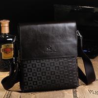 New Luxury men's Printing high quality leather business fashion shoulder bag messager bag bolsa sacs bolso free shipping