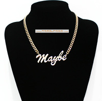Letter mayle necklace accessories