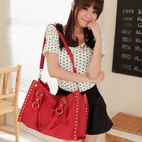 B066 female bags 2013 spring and summer star style color block shoulder bag vintage bag messenger bag