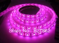 Pink clour Flexible LED Strip 300pcs 5050SMD(60led/meter) IP65 Waterproof(Glue) colour pink -5 meters
