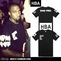 On sale Hood by air hba x been trill yeezy tee short-sleeve T-shirt pyrex  fashion street wear hip hop shirts