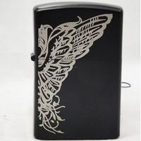 big butterfly lighter black metal kerosene lighter (Not add cotton oil liquid)