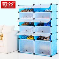 Wire diy modular simple shoe storage cabinet entranceway eco-friendly
