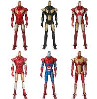 Flash 2014 New Captain America Iron man 3 Model doll 15 cm Action Figures toys 6pcs/set Good Gift for boy/children