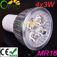 Free shipping  6 PCS/lot  4X3W  GU10 220V 230V 240V  White/Warm white LED Spot Light LED  spotlight bulb  Light Lamp Lighting