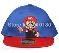 Wholesale 10PCS Cartoon Super Mario Baby Kids Sun Hat Baseball Caps Baby Boys Girls Sunbonnet Cosplay hat
