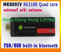 MK809C MK809 III  With External Wifi Antenna Quad core RK3188 2GB RAM 8GB ROM Android 4.2.2  Bluetooth TV Box MK809IV MK809 IV