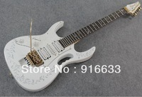 wholesale Top quality japan made Left hand JEM 7V with DiMarzio pickup Natural wood white Electric Guitar free gift string