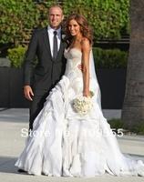 2014 New Arrival Organza Wedding Dresses Sweetheart Elegant Wedding Gown