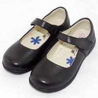 Children black leather girls shoes flat heels shoes girls school shoes