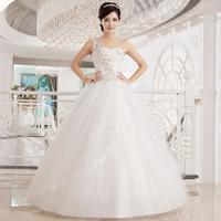 2014 New Arrival Sweet Princess One Shoulder Wedding Dress Diamond Wedding Dress