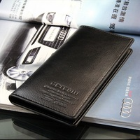 Black Mens Long Casual Leather Wallet Pockets Card Clutch Cente Bifold Purse AK