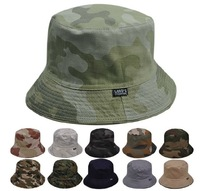 Camouflage Bucket Safari Soft Cotton Fishing Cap Hat- Many Colors