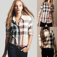 2014 Autumn -Summer Long Sleeve shirts blouses Geometric shirts womens camisas good quality blusas femininas plus big large size