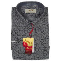Xuebao summer male short-sleeve shirt formal shirt quinquagenarian short-sleeve shirt print paragraph