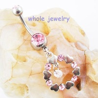JFB-1505  belly ring button ,navel ring , belly dangle ring