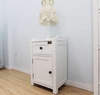 White bedside cabinet furniture eco-friendly experimented