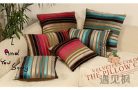 home textiles 4pcs set (2pcs45cm+2pcs60cm) short plush horizontal stripe square cushion cover  45cm 60cm