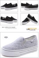 2014 Hot selling sweet  low upper plimsolls flange solid platform leisure SKID GRIP sneakers free shipping