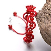 Fashion Jewelry Beautiful Crystal Bangle Bracelet  Red string bracelet natural