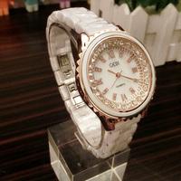 2013 female watch ceramic watch female white diamond mantianxing rhinestone watch fashion ladies watch
