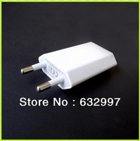1000PCS Cheap New 5V 1A EU AC Travel Wall USB Charger Adapter for Apple iPhone 5 5G 4 4S Samsung S3 S4 HTC Mobile Phone Free DHL