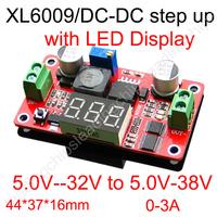XL6009 DC-DC boost power module adjustable power supply input 5v-32v output 5v-38v with LED display