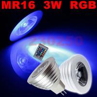 50X Free Shipping! Energy Saving 3W E27 GU10 MR16 RGB E14 LED Bulb Lamp light Color changing IR Remote