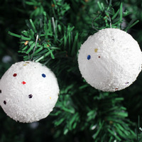 Tree Decoration White Foam Gudgeons Ball Christmas Supplies 6 Christmas Ball