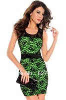 FREE SHIPPING!(10pieces)100% Brand New Women's Sexy lingerie/Spitzen-Minikleid Mit Tranparenter Ruckenansicht,LC2806