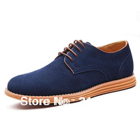 Big size EU 45 46 47 2014 NEW fashion Men's sneakers genuine leather shoes man oxfords classic tenis  casual urban shoes