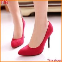 Hot Sale women sexy red bottom pointed toe wedding high heel pumps thin heels large size Us 9-12 ladies shoes 3601