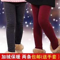 Winter children's clothing female child legging female winter plus velvet thickening child long trousers thermal baby trousers